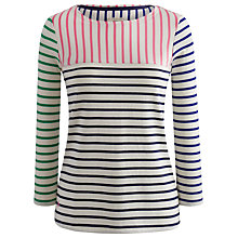 Buy Joules Harbour Stripe Contrast Cotton Top, Multi Online at johnlewis.com