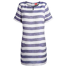 Buy Joules Abington Tunic Dress, Lake Blue Stripe Online at johnlewis.com