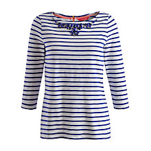 Buy Joules Slub Jersey Top, Lake Blue Stripe Online at johnlewis.com