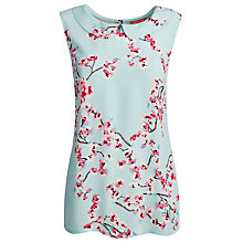 Buy Joules Round Collar Top, Opal Blue Blossom Online at johnlewis.com