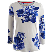 Buy Joules  Printed Jersey Top, Cream Butterfly Floral Online at johnlewis.com