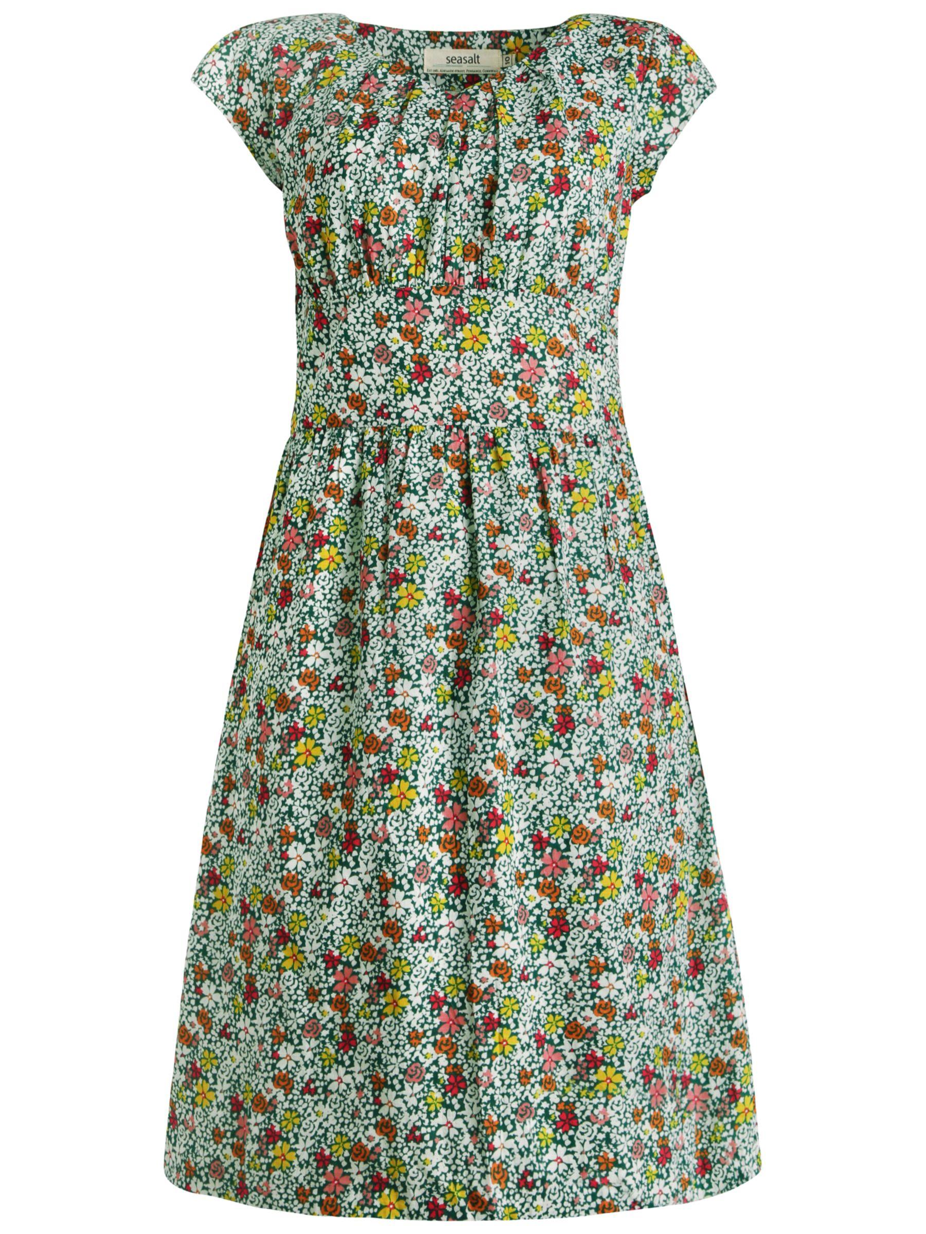 seasalt abstract floral dress vintage floral drake, seasalt, abstract, floral, dress, vintage, drake, 12|10|8|14|16, women, womens dresses, 1938212