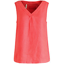 Buy Seasalt Linen Top, Coral Online at johnlewis.com