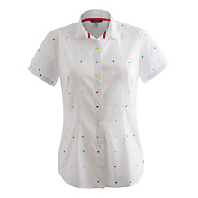 Buy Joules Carla Shirt, Bright White Spot Online at johnlewis.com