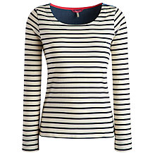 Buy Joules Pia Woven Back Top, Cream/Blue Online at johnlewis.com
