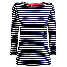 Buy Joules Harbour Stripe Top, Navy Online at johnlewis.com
