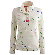 Buy Joules Floral Sweat Top, Cream Floral Online at johnlewis.com