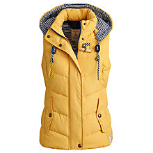 Buy Joules Covesea Gilet, Cornfield Yellow Online at johnlewis.com
