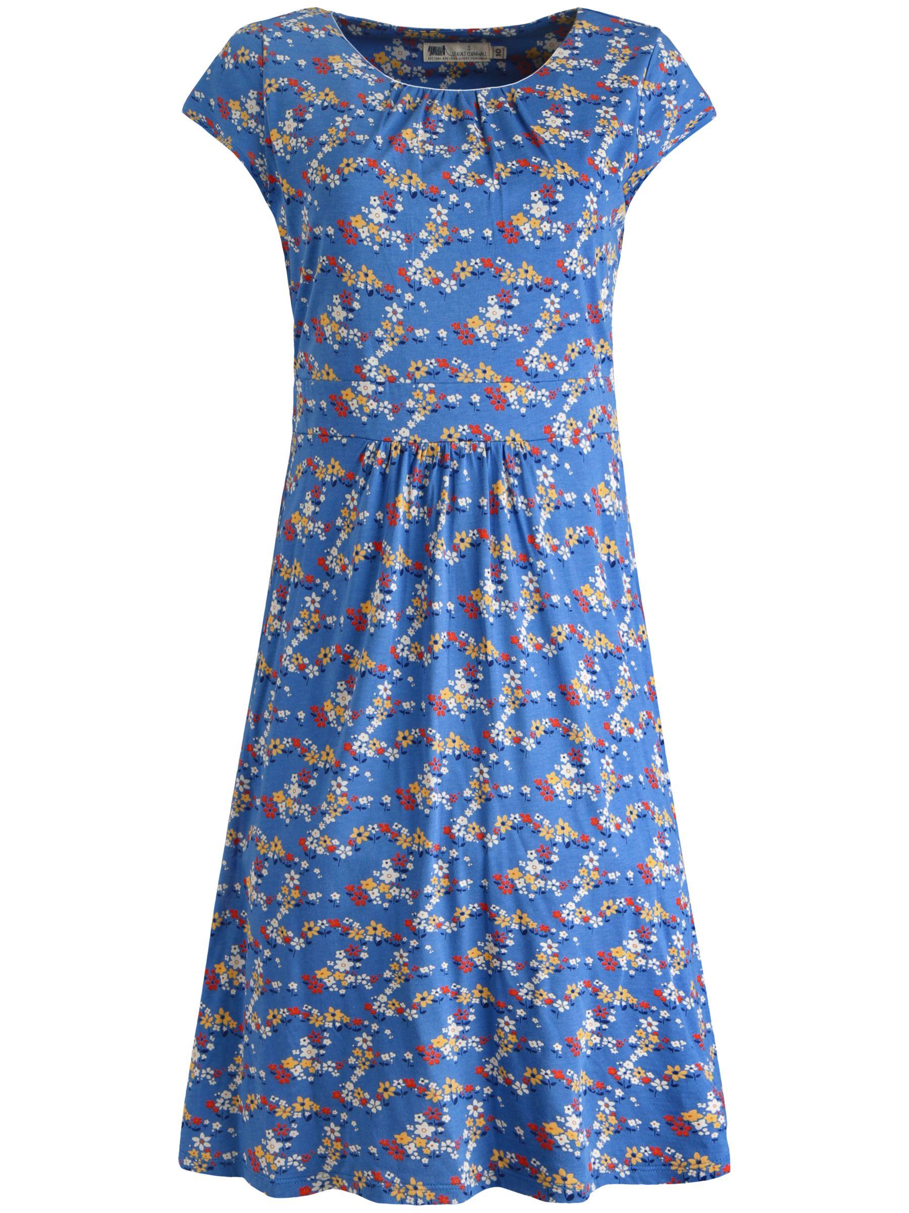 seasalt carnmoggas field flowers dress cornish blue, seasalt, carnmoggas, field, flowers, dress, cornish, blue, 14|16|12|10|8, women, womens dresses, 1927283