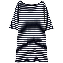 Buy Seasalt Sailor Tunic Dress, Orca/Ecru Online at johnlewis.com