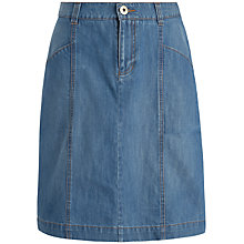 Buy Seasalt Waters Edge Linen Skirt, Medium Wash Online at johnlewis.com