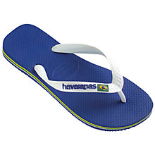 Buy Havaianas Brasil Flip-Flops, Marine Blue Online at johnlewis.com