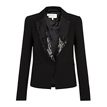 Buy Hobbs Invitation Alina Jacket, Black Online at johnlewis.com