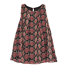 Buy Mango Snake Print Top, Light Pastel Pink Online at johnlewis.com