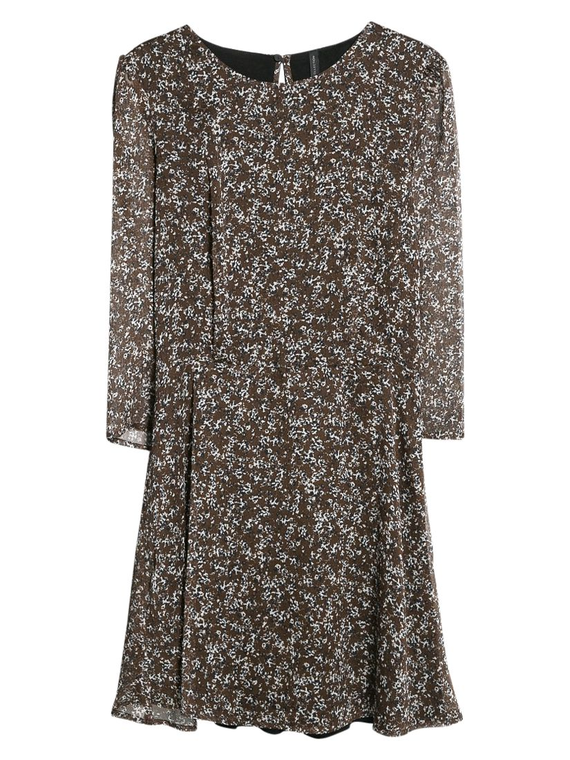 mango printed chiffon dress dark brown, mango, printed, chiffon, dress, dark, brown, 8|6, clearance, womenswear offers, womens dresses offers, women, inactive womenswear, new reductions, womens dresses, special offers, 1757398