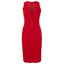 Buy French Connection Romeo Stretch Dress, Royal Scarlet Online at johnlewis.com