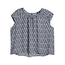 Buy Mango Cropped Blouse, Navy Online at johnlewis.com