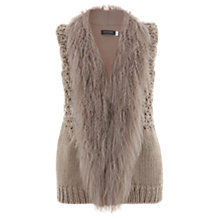 Buy Mint Velvet Mongolian Gilet, Pink Nude Online at johnlewis.com