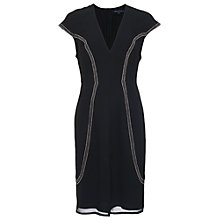 Buy French Connection Glitter Trail Dress, Black Online at johnlewis.com