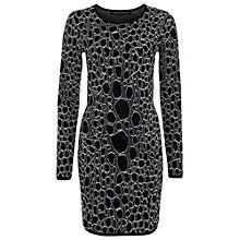 Buy French Connection Stingray Sparkle Dress, Black Online at johnlewis.com