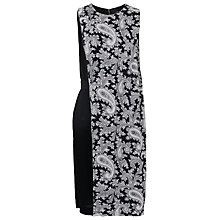 Buy French Connection Paisley Party Crepe Dress, Black Online at johnlewis.com
