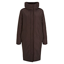 Buy Hobbs Jacqueline Puffa Coat, Chocolate Online at johnlewis.com