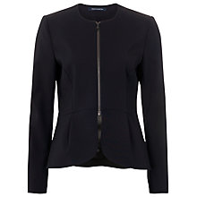 Buy French Connection Romeo Stretch Fitted Jacket, Black Online at johnlewis.com