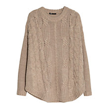 Buy Mango Cable Knit Jumper Online at johnlewis.com