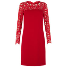 Buy Hobbs Invitation Bretta Dress, Dark Red Online at johnlewis.com