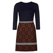 Buy Hobbs Angela Dress, Navy Toffee Online at johnlewis.com