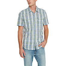 Buy Levi's Short Sleeve Barstow Check Shirt, Light Green Check Online at johnlewis.com