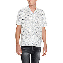 Buy Levi's Short Sleeve Cabanna Print Shirt, White Online at johnlewis.com