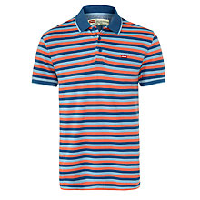 Buy Levi's Fine Stripe Polo Shirt, Blue/Pink Online at johnlewis.com