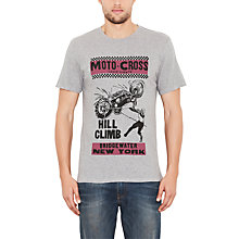 Buy Levi's Printed Motor Cross T-Shirt, Grey Online at johnlewis.com