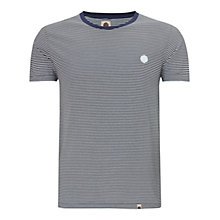 Buy Pretty Green Feeder Striped T-Shirt, Blue Online at johnlewis.com