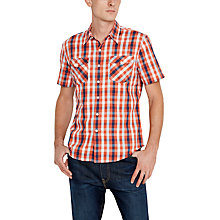 Buy Levi's Short Sleeve Truckee Shirt, Red Online at johnlewis.com