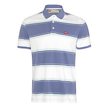 Buy Levi's Stripe Polo Shirt, Blue/White Online at johnlewis.com