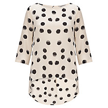Buy Marella Bautta Spot Blouse, Black Spot Online at johnlewis.com