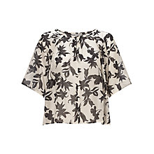 Buy Marella Agosto Floral Blouse, Cream Online at johnlewis.com