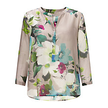 Buy Marella Caracas Silk Blend Floral Print Top, Multi Online at johnlewis.com