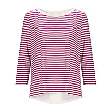 Buy Marella Debussy Split Back Top, Cyclamen Online at johnlewis.com