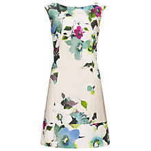 Buy Marella Musette Floral A-Line Dress, Pearl Grey Online at johnlewis.com