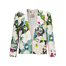 Buy Marella Reddie Floral Bolero Jacket, Pearl Grey Online at johnlewis.com