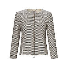Buy Marella Orietta Stripe Boucle Jacket, Black Online at johnlewis.com