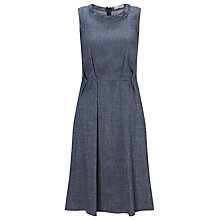 Buy Marella Linen Blend Fibbia Denim Dress, Blue Online at johnlewis.com