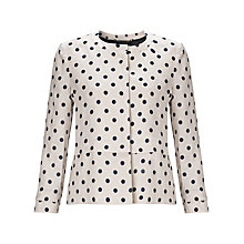 Buy Marella Manu Spot Print Linen Jacket, Rope Online at johnlewis.com
