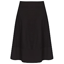 Buy Marella Yanina Silk Blend Perforated Skirt, Black Online at johnlewis.com