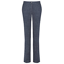 Buy Marella Linen Blend Dental Chambray Trousers, Indigo Online at johnlewis.com