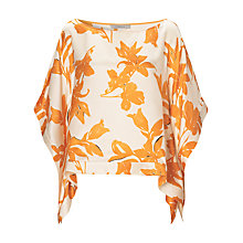 Buy Marella Floral Silk Blouse, Orange Online at johnlewis.com