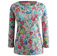 Buy Joules Harbour Stripe Contrast Cotton Top, Cream Chelsea Floral Online at johnlewis.com